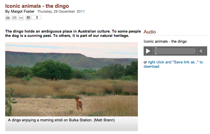 Screen grab from the ABC Radio National website.